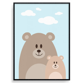 Bear Mom Plakat wallsticker