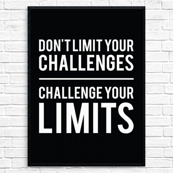 Challenge your limits Plakat wallsticker