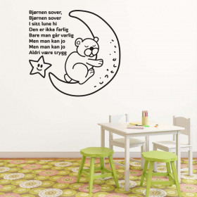Bjørnen sover wallsticker