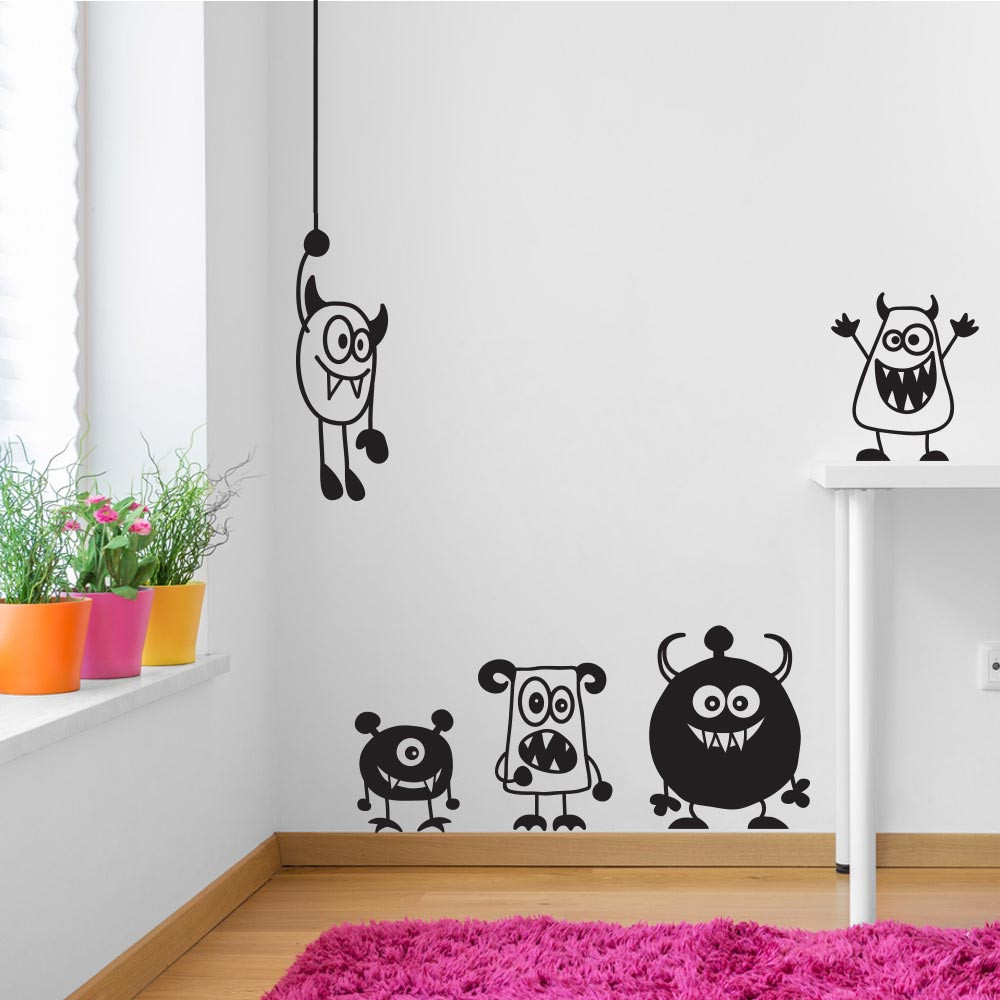 Søte monstre wallsticker