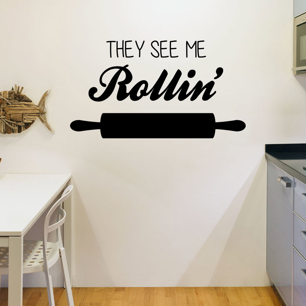 They see me rollin' wallsticker