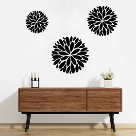 Abstract flowers wallsticker