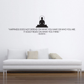 Happiness - Buddha wallsticker