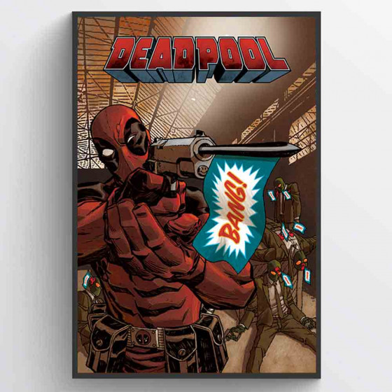 Deadpool - Bang Plakat wallsticker