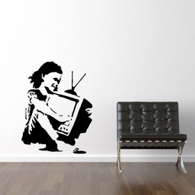 TV girl - Banksy wallsticker