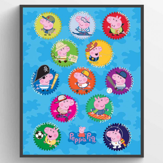 Peppa Gris - George Plakat wallsticker