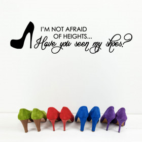 Not afraid of heights wallsticker