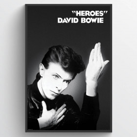 David Bowie Heroes Plakat wallsticker