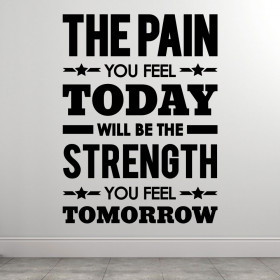 The pain you feel today wallsticker