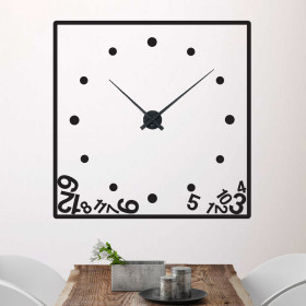 Fallen numbers klokke wallsticker