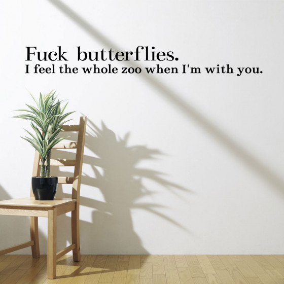 Fuck Butterflies wallsticker