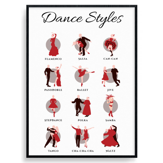 Dance styles Plakat wallsticker