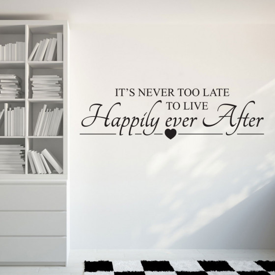 Happily ever after wallsticker