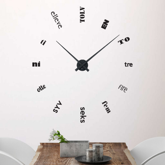 Klokke 1 wallsticker