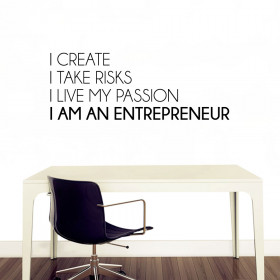I am an entrepreneur! wallsticker
