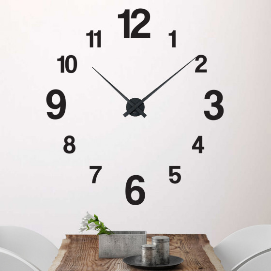 Klokke 3 wallsticker