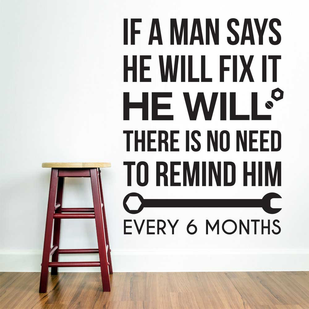 Man will fix it wallsticker