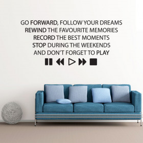Forward Rewind Play wallsticker