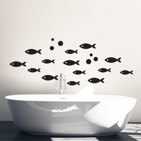 Fiskestim wallsticker