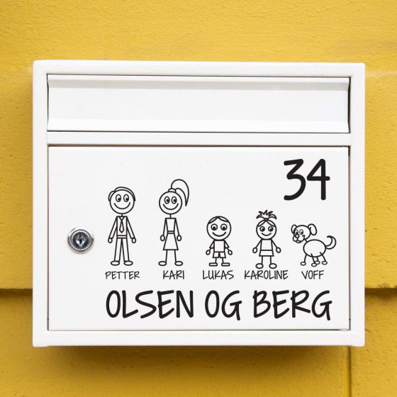 #1 Familie wallsticker