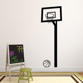 Basketballkurv wallsticker