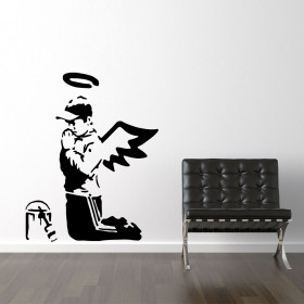 Banksy graffitimaler wallsticker
