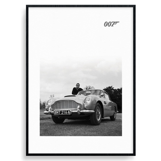 #2 James Bond - Aston Martin Plakat wallsticker