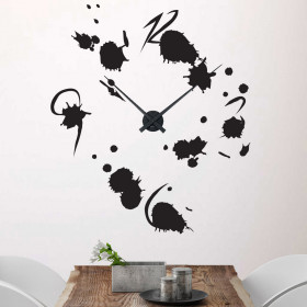 Splatter klokke wallsticker